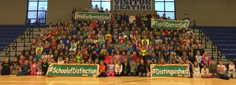 "Students celebrate being named a KY ""District of Distinction"""