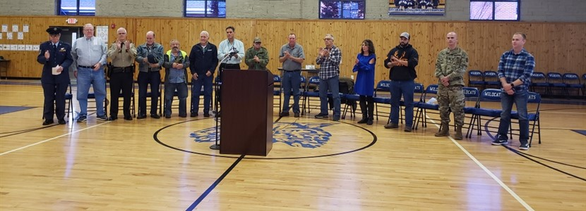 East Bernstadt School honors Veterans on Veteran's Day 2019