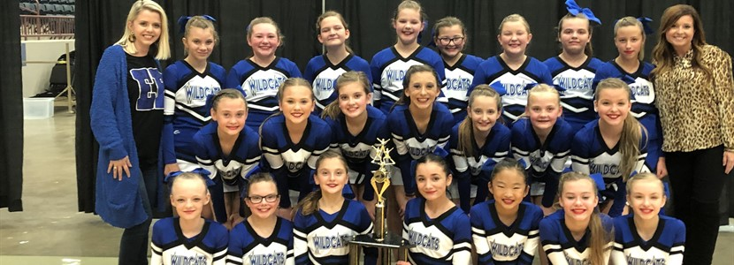 EB Middle School Cheer Squad won 1st place in the KAPOS 13th Region Competition