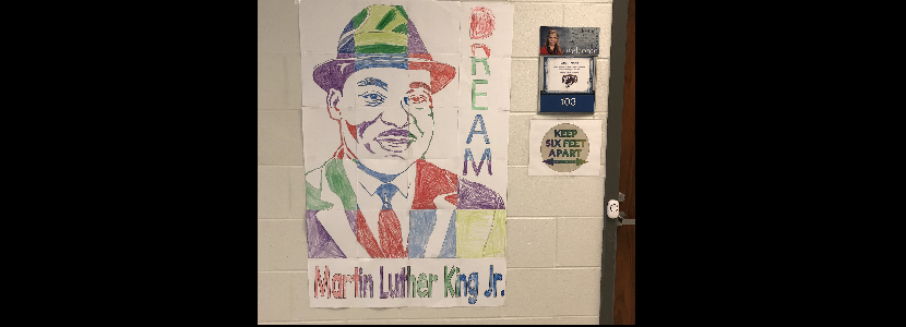 Martin Luther King, Jr. Collaborative Poster by Mrs. Smoak's 1st Grade