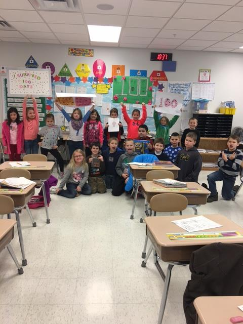 Mrs. Adams's students are 100 days smarter!
