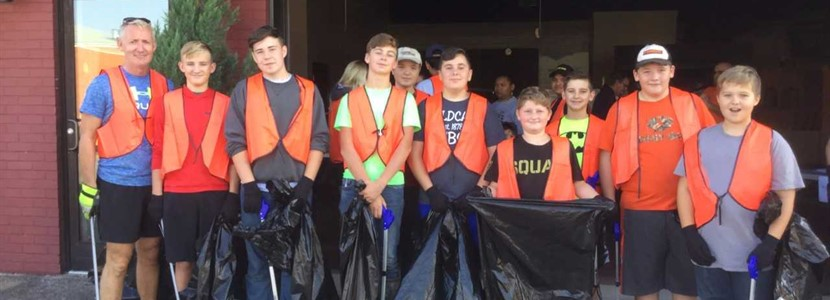East Bernstadt Outdoor Adventure Club participated in the London City Tourist Commission Clean Up Day on Saturday September 16th.