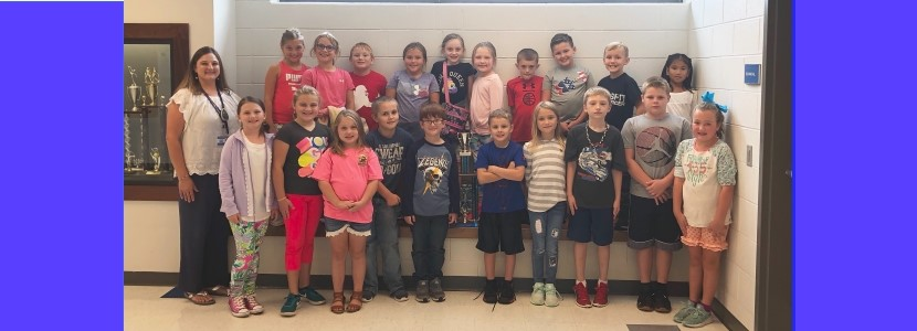 Mrs. Smallwood's 3rd graders are Month 1 Attendance WInners!
