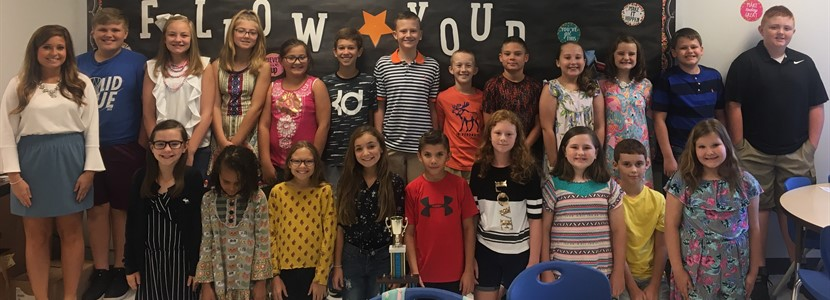 Ms. Smith's 5th graders are Month 2 Attendance Winners!!!