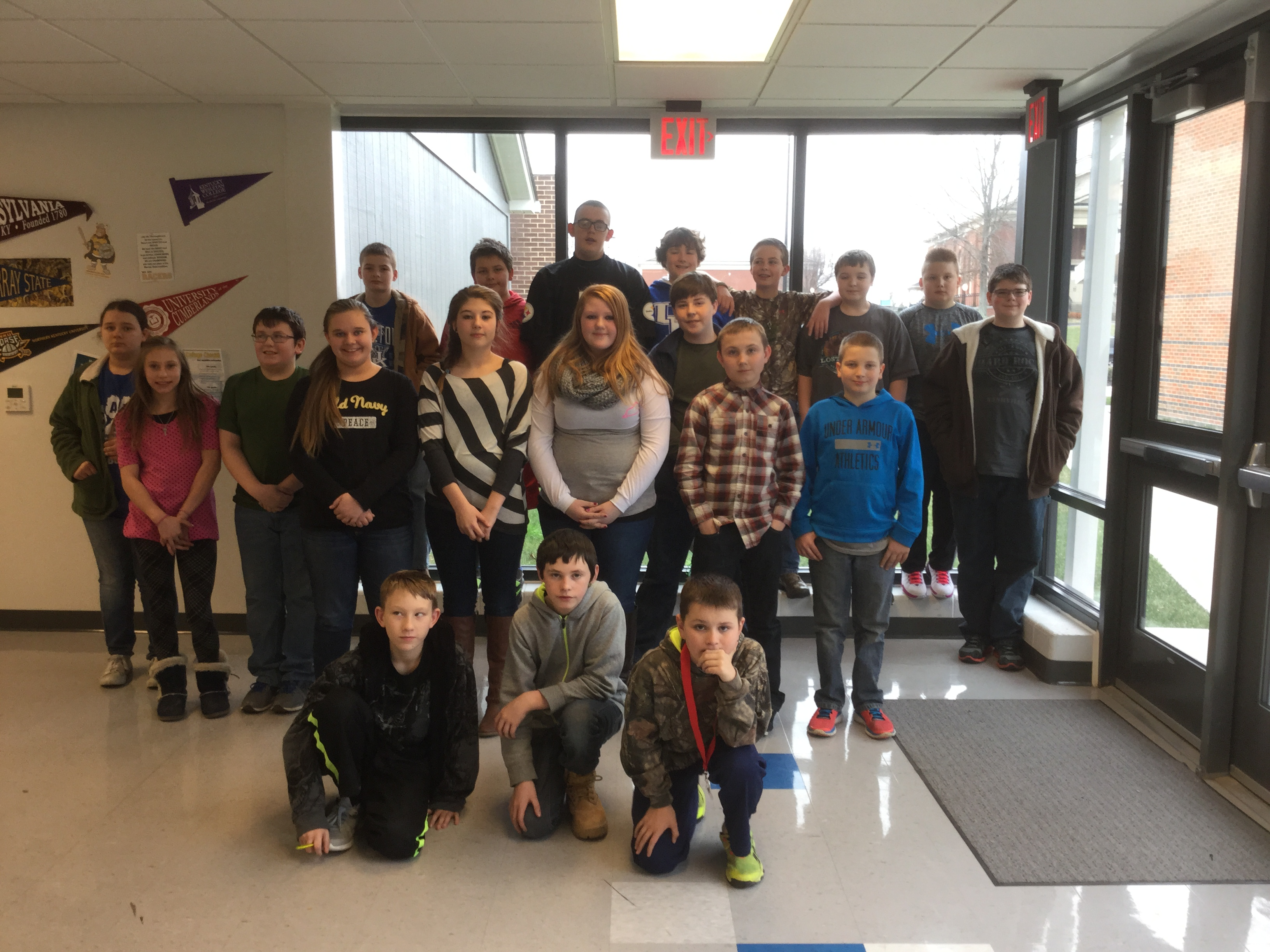 These East Bernstadt Middle School students wrote poems, illustrated them, and are published in the Young Poets' Collection.